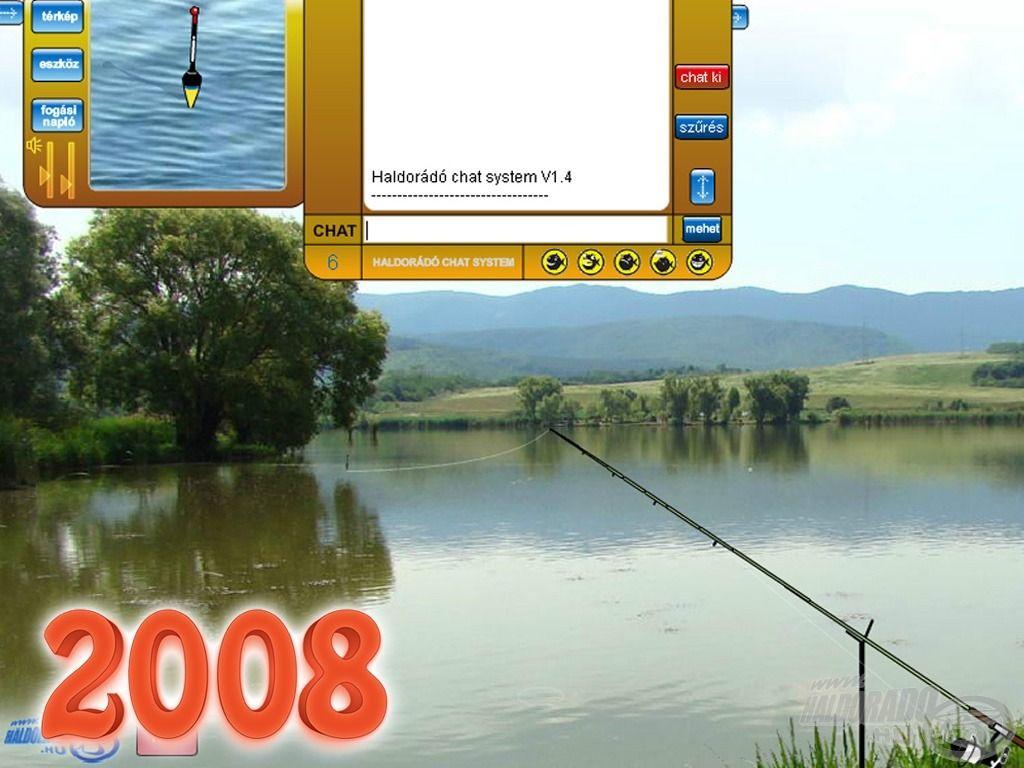 Szintén 2008-ban indítottuk el az Online Horgász játékot, amiben a bejelentkezett horgászok chatelni is tudtak