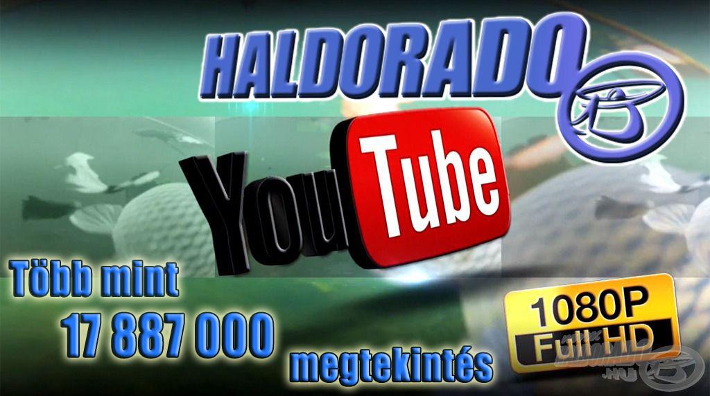 Ez a szám azóta is nagyon szépen növekedett, a Haldorádó Horgászportál YouTube csatornája jelenleg 17 887 065 megtekintéssel büszkélkedhet!