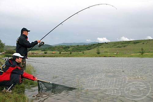 A hajók tesztelésekor azért a horgászatra is jutott idő, …