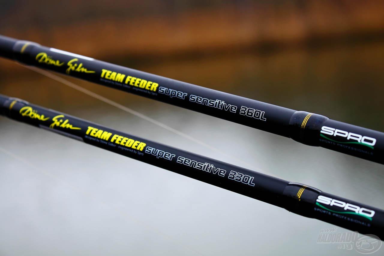 A közelebbi horgászatokhoz ideálisak a 3,30-as és 3,60-as változatok