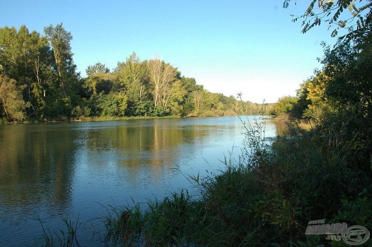 Gyönyörű színekben pompázik az őszi csatorna