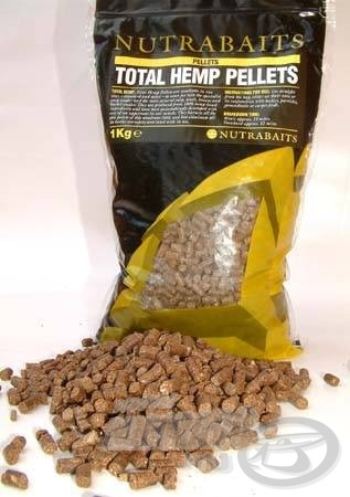 A Nutrabaits Total Hemp pellet kendermag kivonatot tartalmaz. A pontyok mellet a nagytestű fehérhalak figyelmét sem kerülheti el