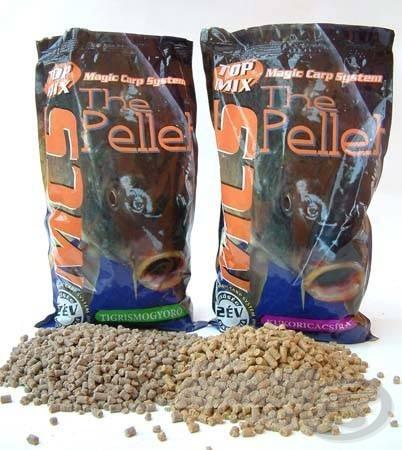 A Top Mix tigrismogyoró felhasználásával is készít pelletet (de a választékból természetesen a kukoricacsíra pellet sem hiányzik!)
