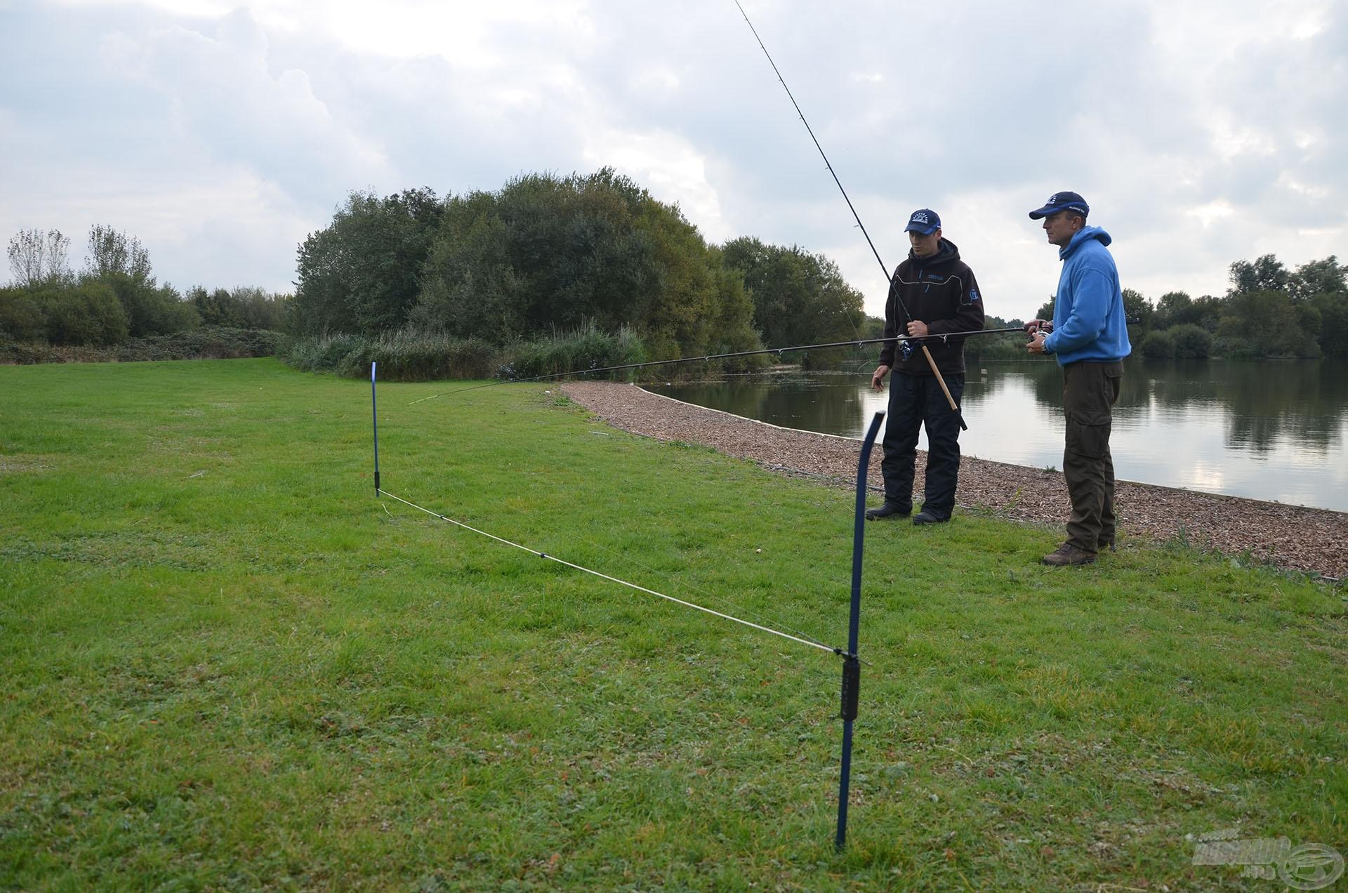 A horgászat megkezdése előtt pontosan kimértük a távolságot, amely 48 méter volt