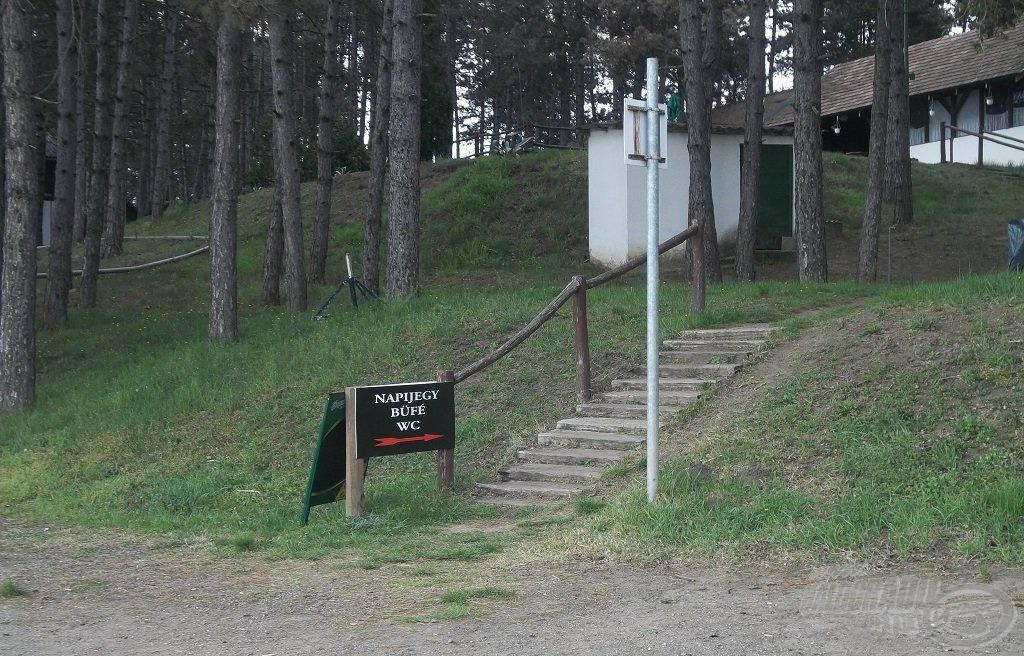 A park területén büfé is található
