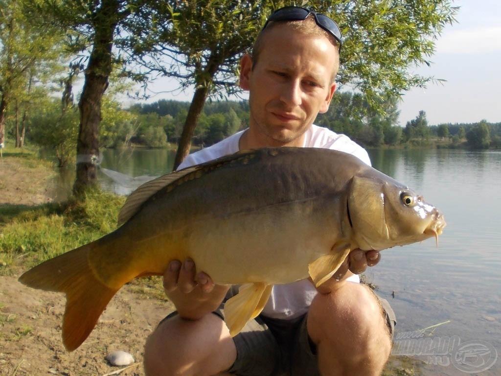 Az első hal egy hibátlan, közel 4 kilós tükrös