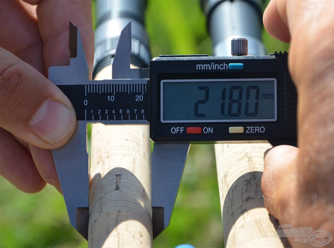 … így az új Power Fighter bot nyélátmérője már csupán 21,8 mm!