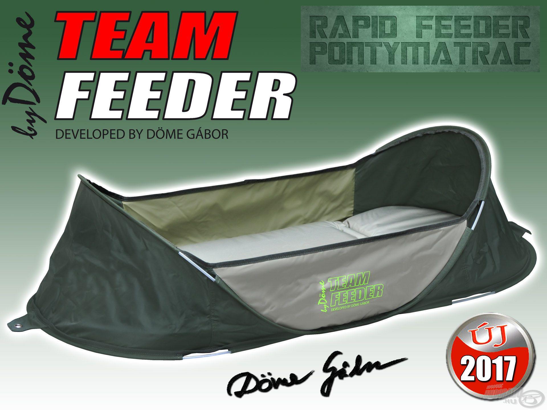 A By Döme TEAM FEEDER Rapid pontymatrac kifejezetten a feeder- és praktikus megoldásokat kedvelő pontyhorgászok számára készül