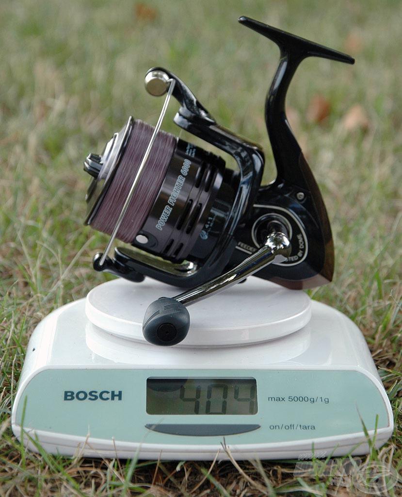 … illetve a legnagyobb, 6000-es méret is igazán könnyű, mindössze 404 gramm