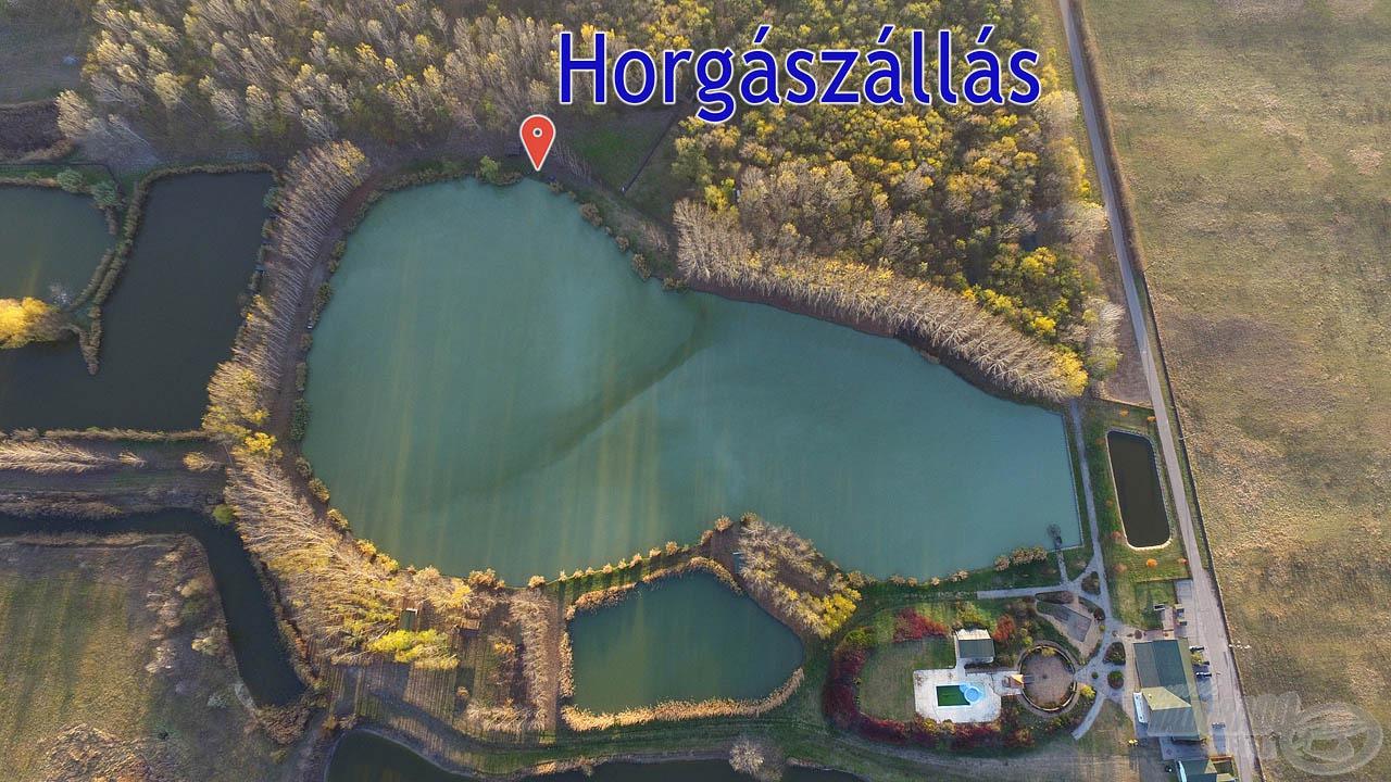 """A """"Nagy-tó"""" kiszélesedő részén választottuk ki horgászhelyünket, ahonnan a legtöbb lehetőség kínálkozott"""