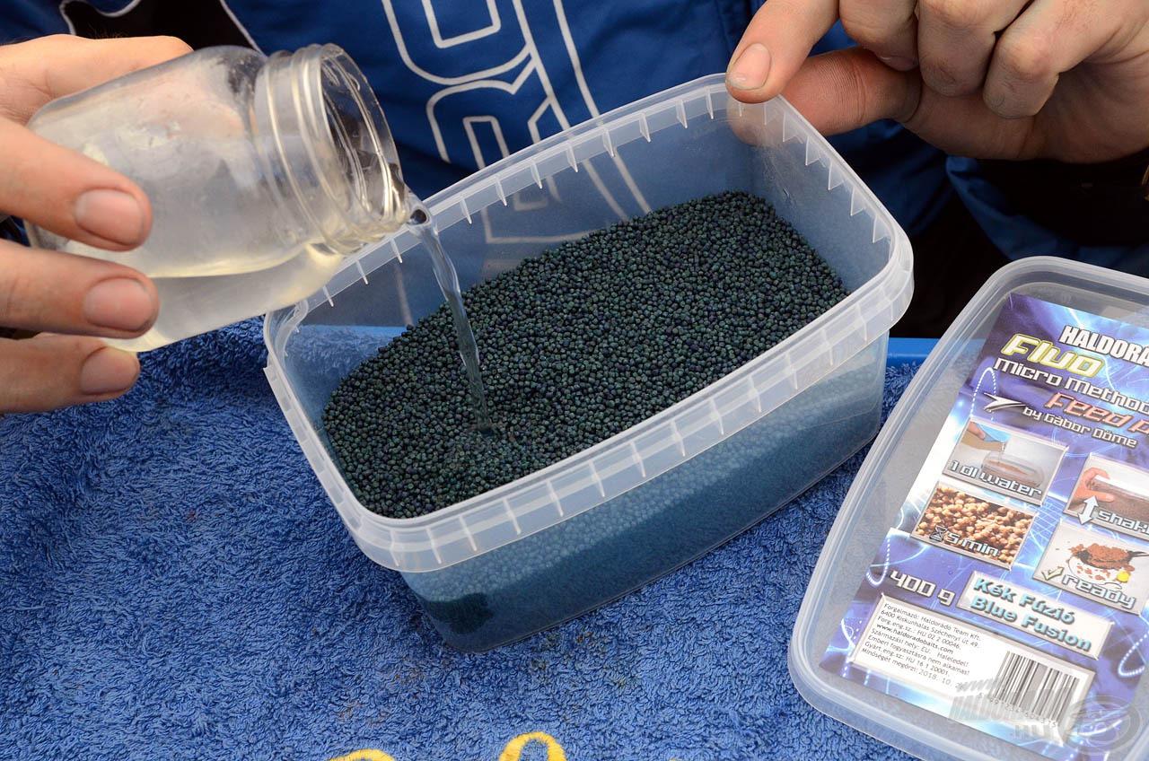 A Kék Fúzió Fluo Micro Method Feed Pellet a korábban megismert fogós változatokhoz hasonlóan egy nagyon egyszerűen elkészíthető, szelektív nagyhalas pellet mix. Elsőként csupán 1-1,5 dl vizet kell hozzá önteni…