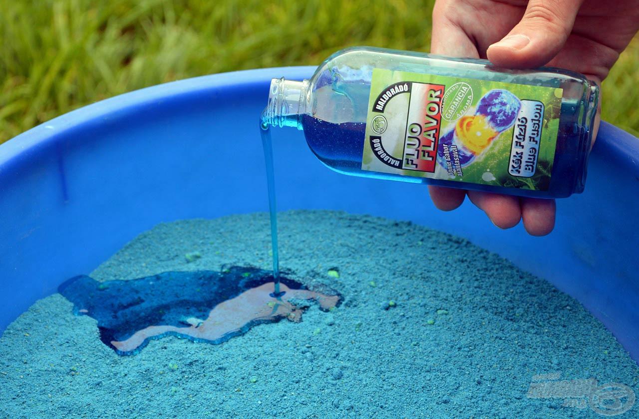 A Fluo Flavor Kék Fúzió aroma egy nagyon attraktív, élénk színű folyadék, mely elsődlegesen az etetőanyagok ízesítésére szolgál