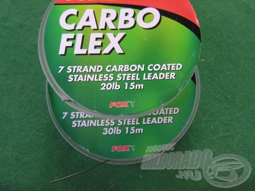 A 20 és a 30 font szakítószilárdságú Carbo Flex előke a leginkább használatos nálunk