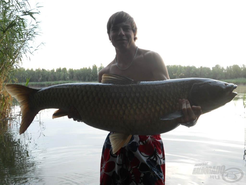 110 cm hosszú és 22 kg súlyú gyönyörű amur