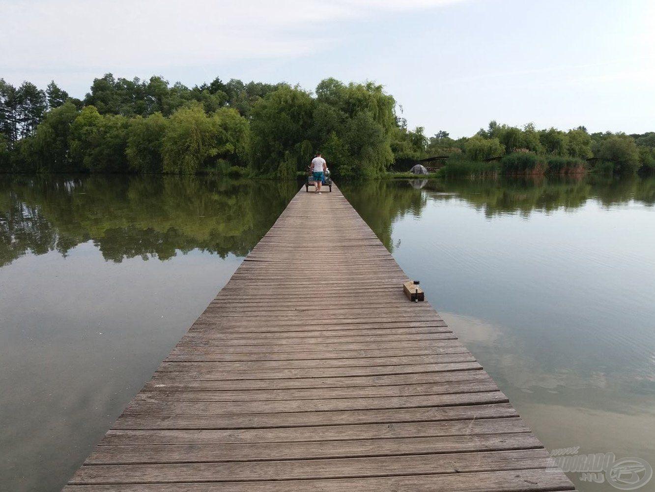 Félúton a horgászhely felé