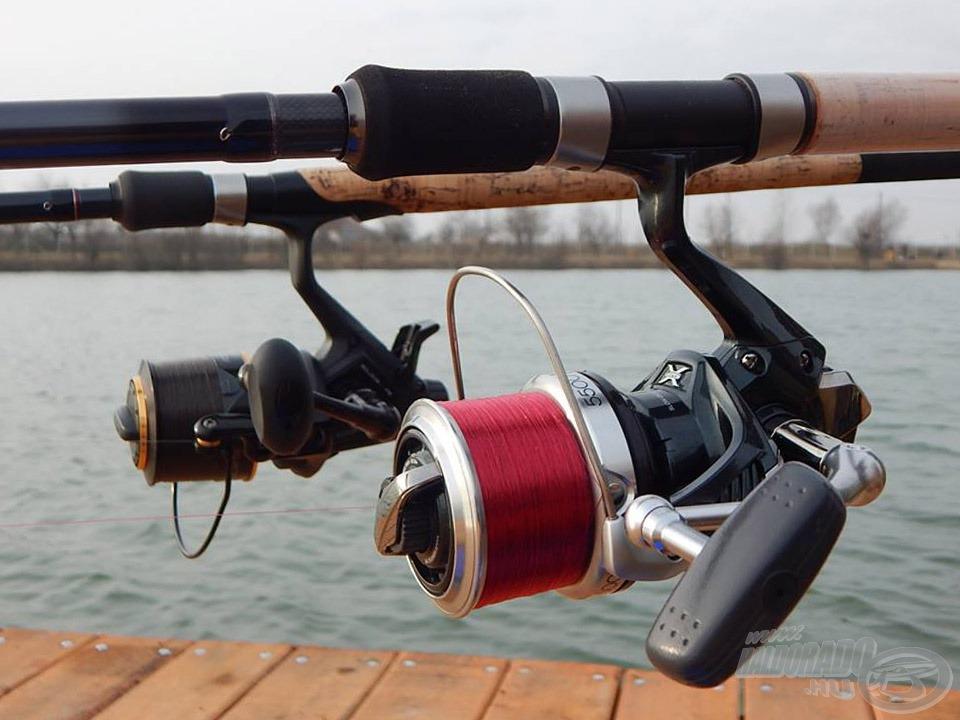 Vékony főzsinórral feltöltött távdobó orsók voltak a társaim ezen a horgászaton is