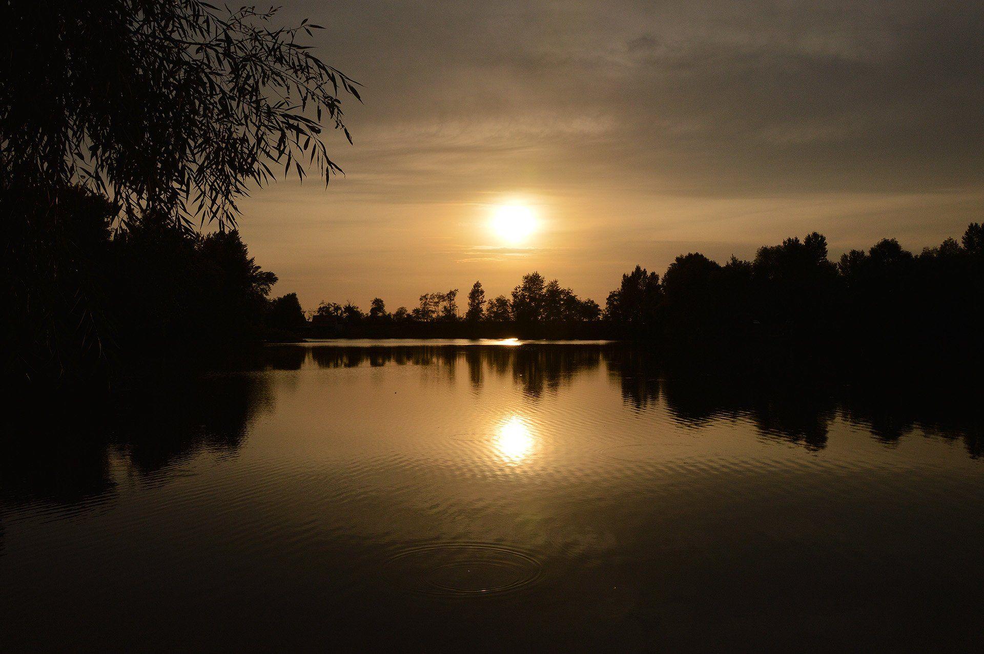 Aranyló őszi naplementével vette kezdetét az éjszakai horgászat