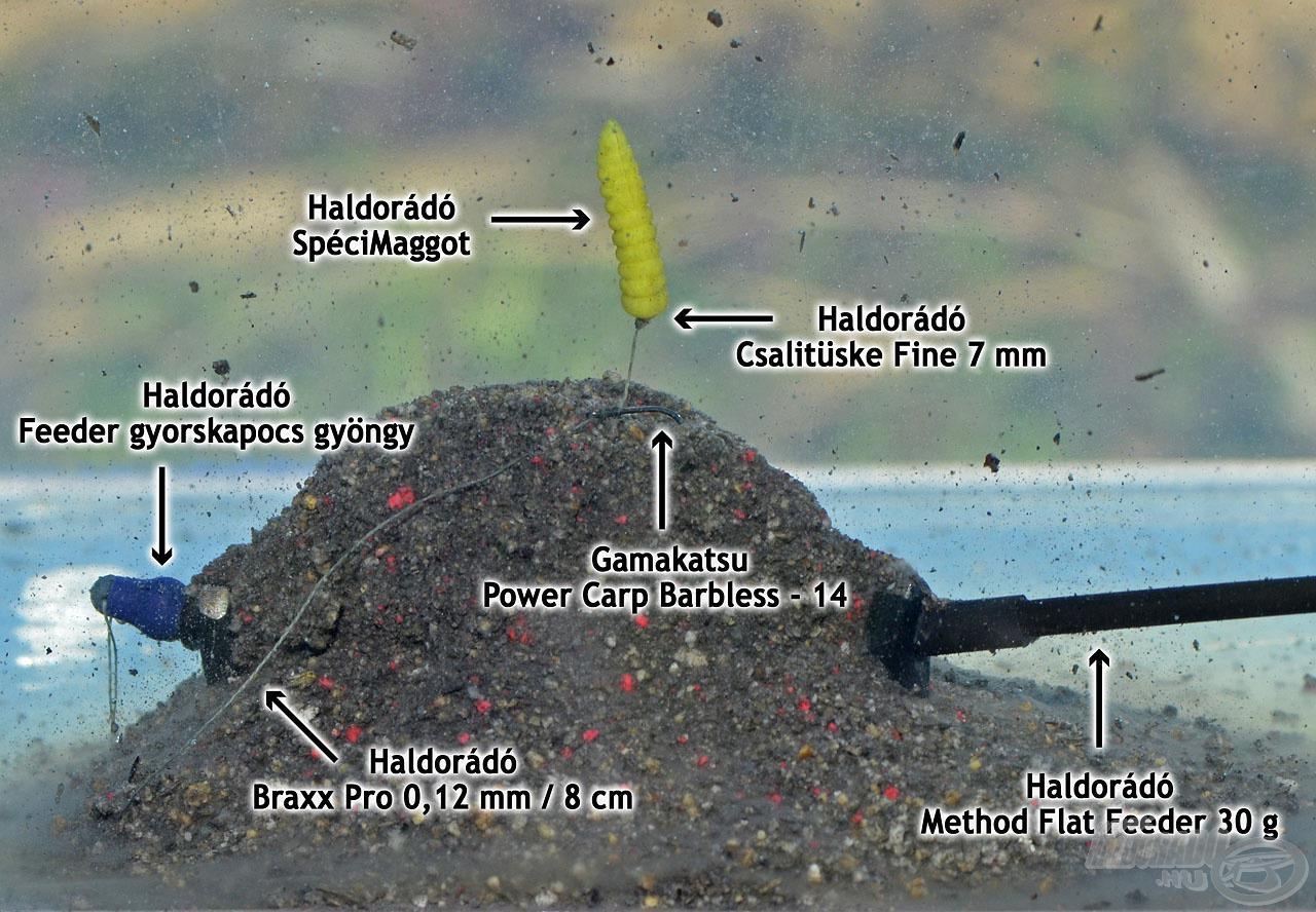 A Method Flat Feeder kosárral kombinált feeder végszerelékem