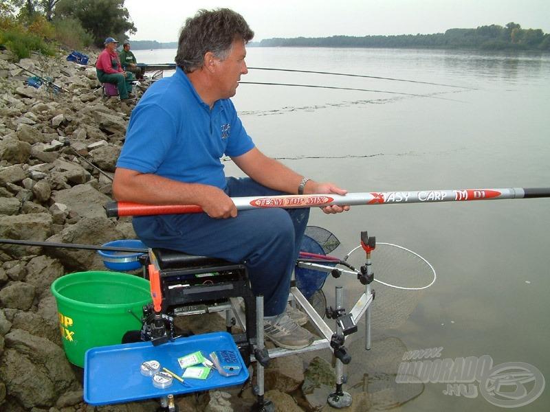 A gerinces és erős Top Mix rakós bot a Duna harcos halainak méltó ellenfele