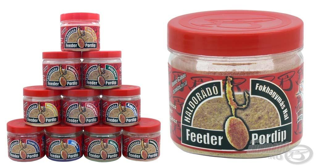 A Feeder Pordip a horogcsalik fogósságát növelő speciális adalékanyag