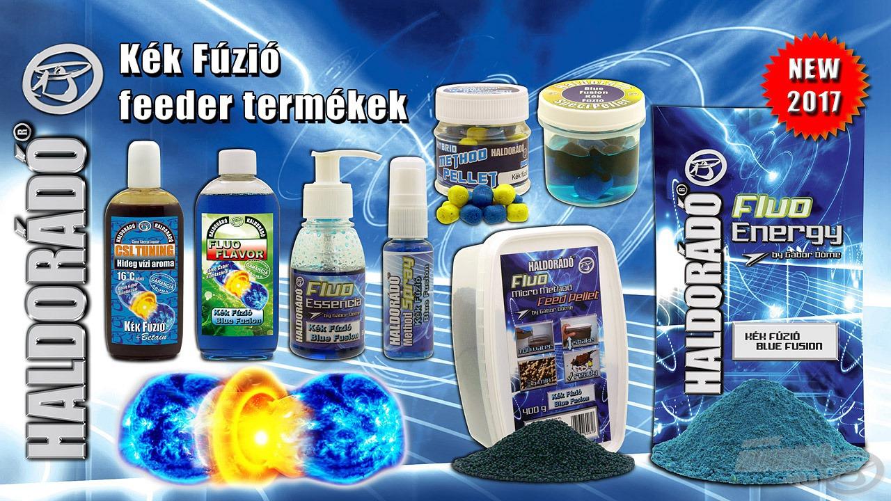 2017-től a modern, feederbotos pontyhorgászathoz készített Kék Fúzió termékek teljes skálája elérhetővé válik!