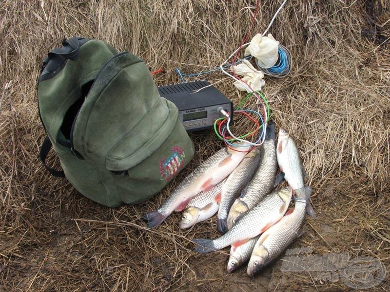 Elektromos halászeszköz elkobzása a Hernád folyón