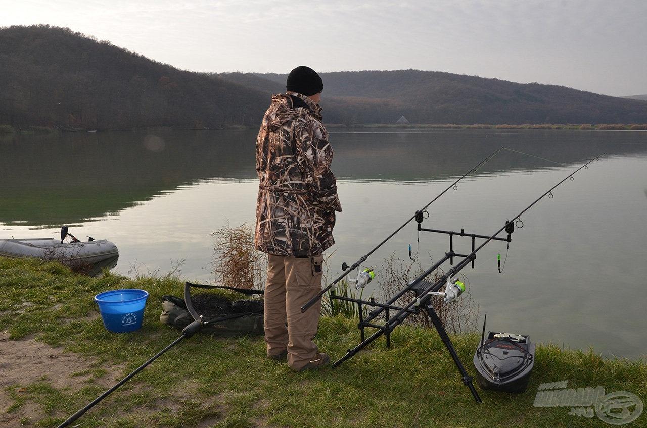 Végre az óriás halak birodalmában, a Harsányi-tavon horgászhattam