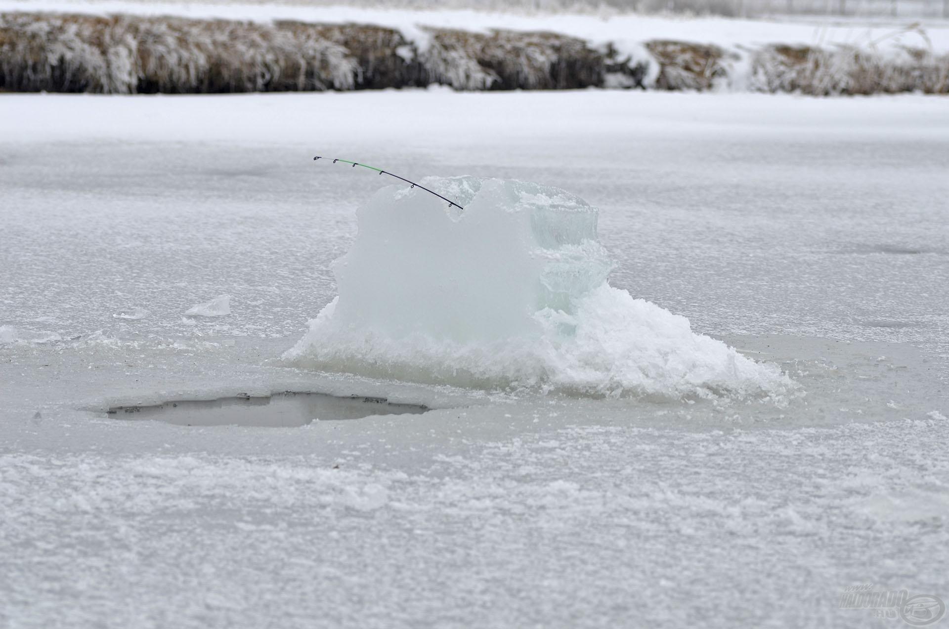Bármennyire is szép, a jég nagyon veszélyes…