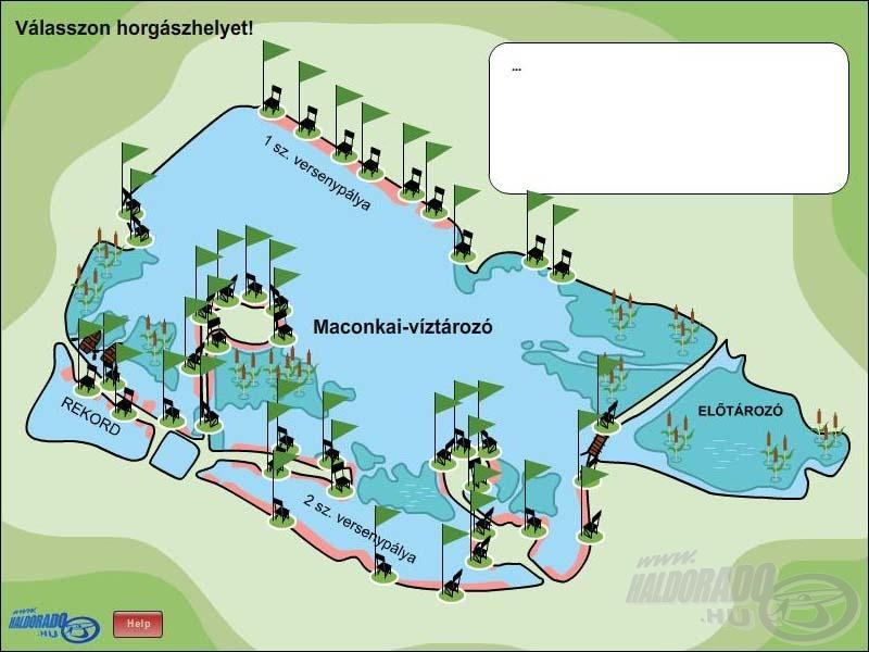 A helyszín a Maconkai-víztározó, a horgászat megkezdése előtt helyet kell választani!