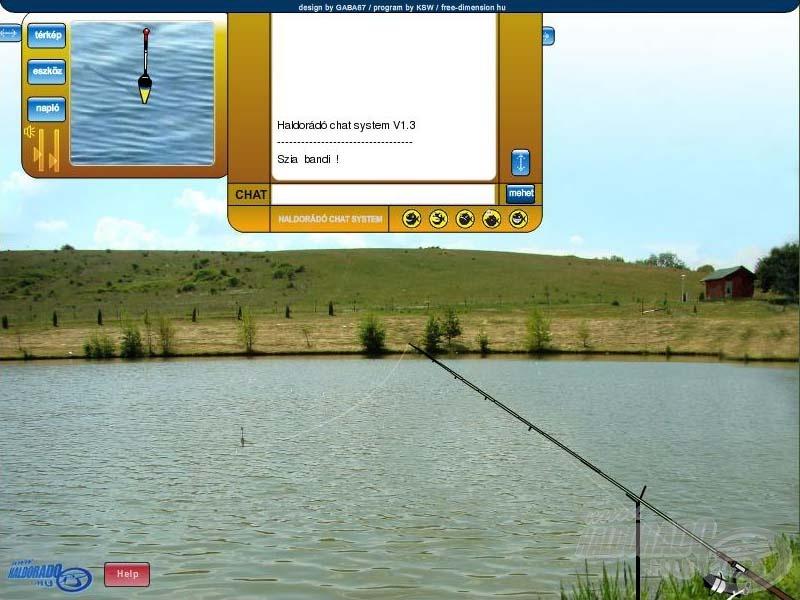 A játék valósághű környezetben játszódik, olyan, mintha a vízparton lennétek! Ráadásul horgászat közben beszélgethettek (chat segítségével) a játékban résztvevőkkel