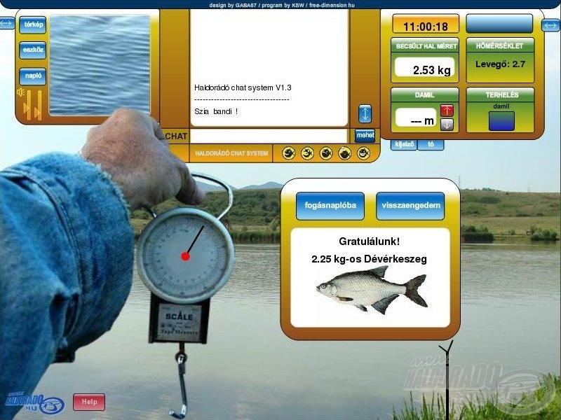 A kifogott hal pontos súlyának meghatározása után ti döntötök a sorsáról