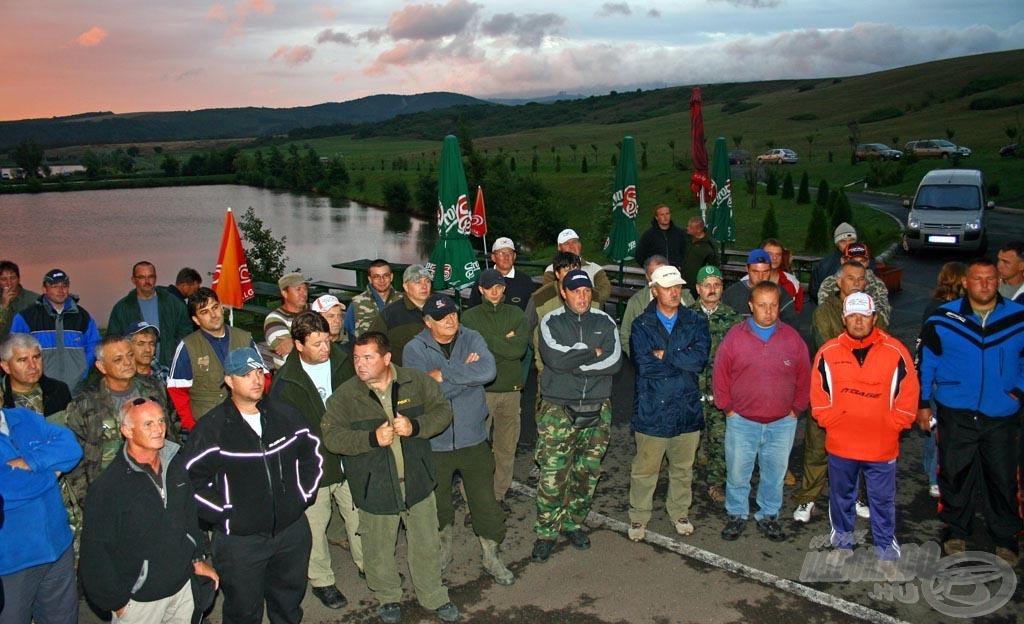 Szombat reggel 47 horgász várta a verseny kezdetét