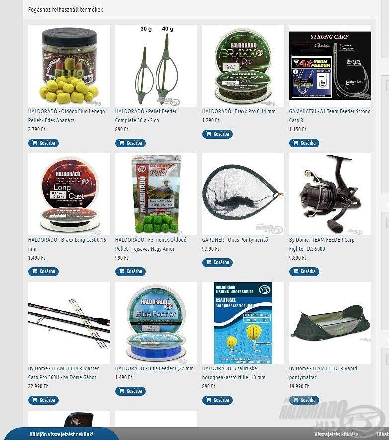 Hasznos újdonság, hogy minden feltöltött fogáshoz hozzácsatolhatók a horgászaton használt sikeres termékek is