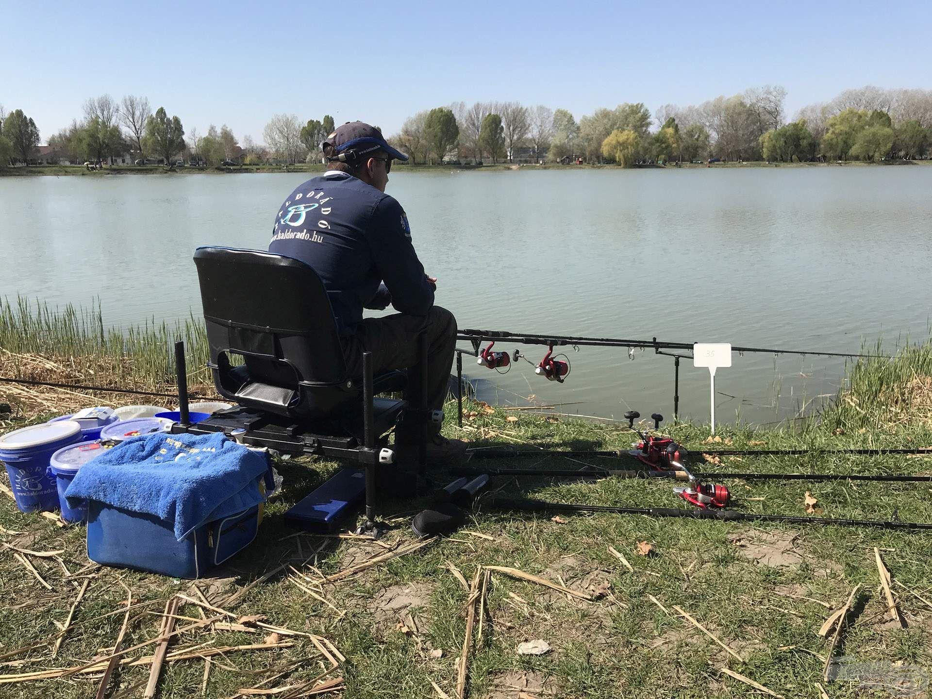 Nagy tavakon, nagy távú horgászatok során mutatkozik meg a komplett rendszer rendkívüli hatékonysága. Ez a fotó idén áprilisban készült a Sóstó Horgászkupán