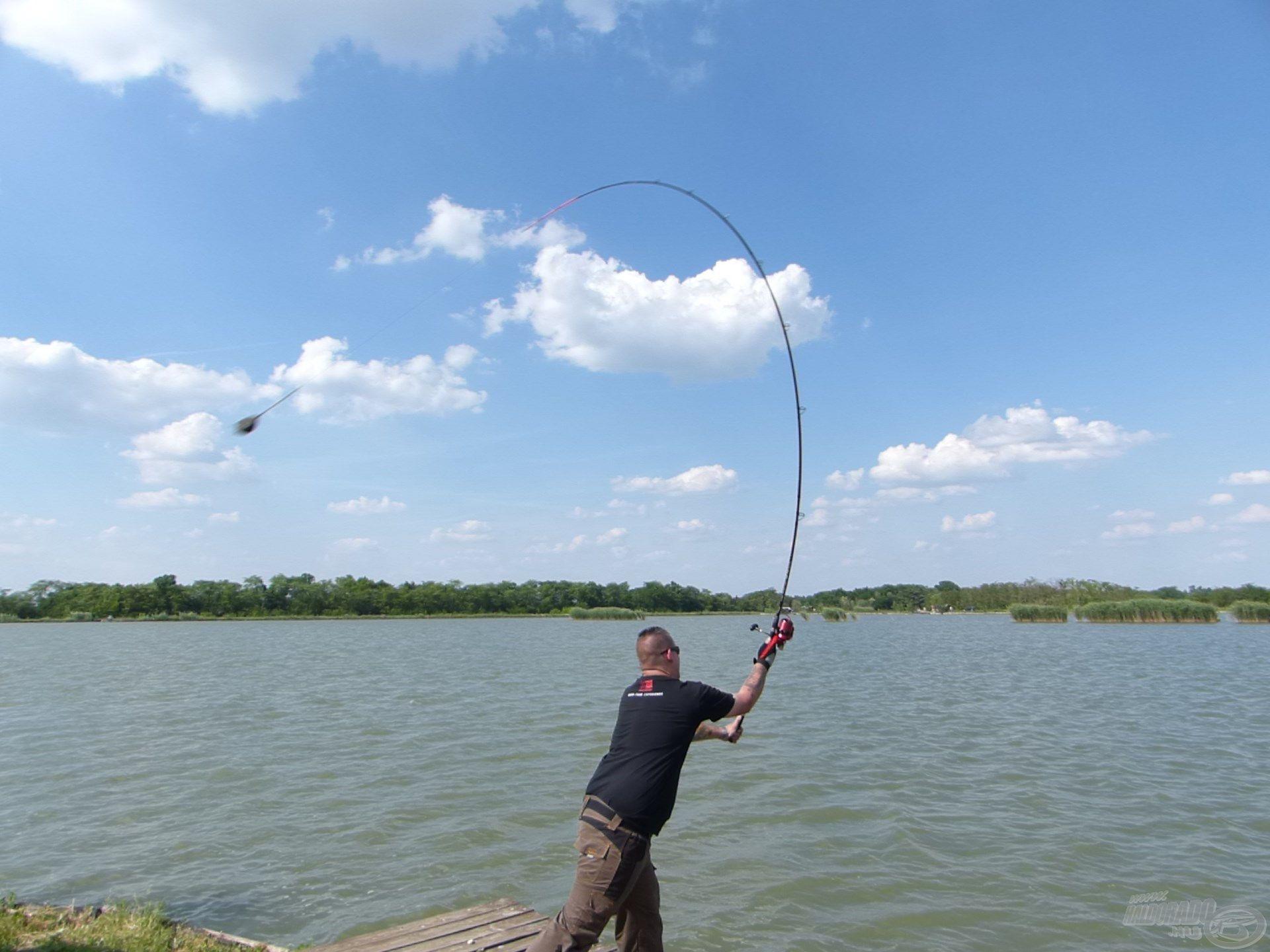 … amellyel 110-120 méterre tudtam horgászni