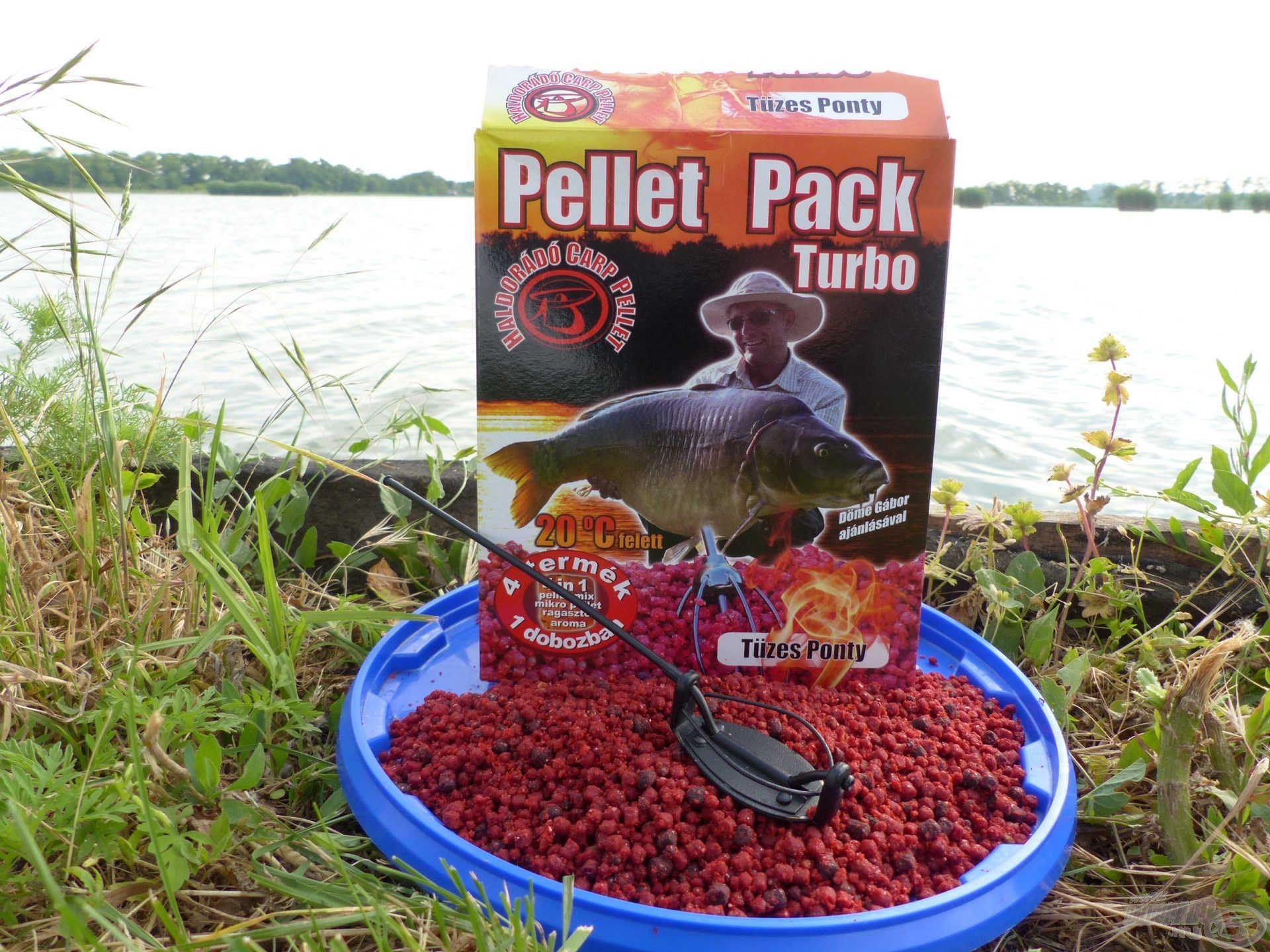 """A Pellet Pack Turbo Tüzes Ponty egy igazi nagy hal """"mágnes"""" a felmelegedett vizekben. Tökéletesen illik a Method Flat Feeder kosarakhoz"""