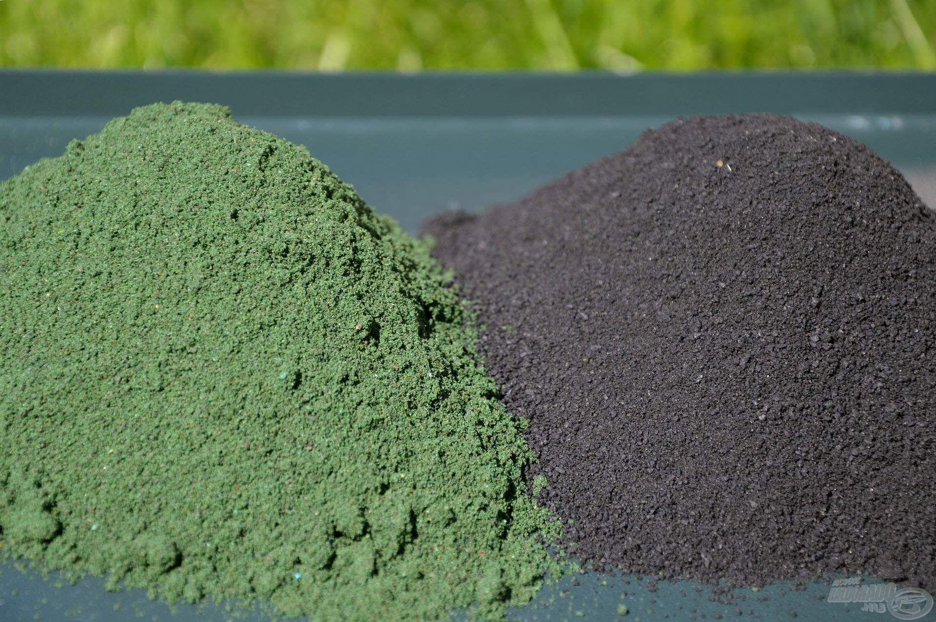 A Top Method Feeder Maximum Green és Premium Halibut etetőanyagok egyaránt finom szemcsemérettel rendelkeznek