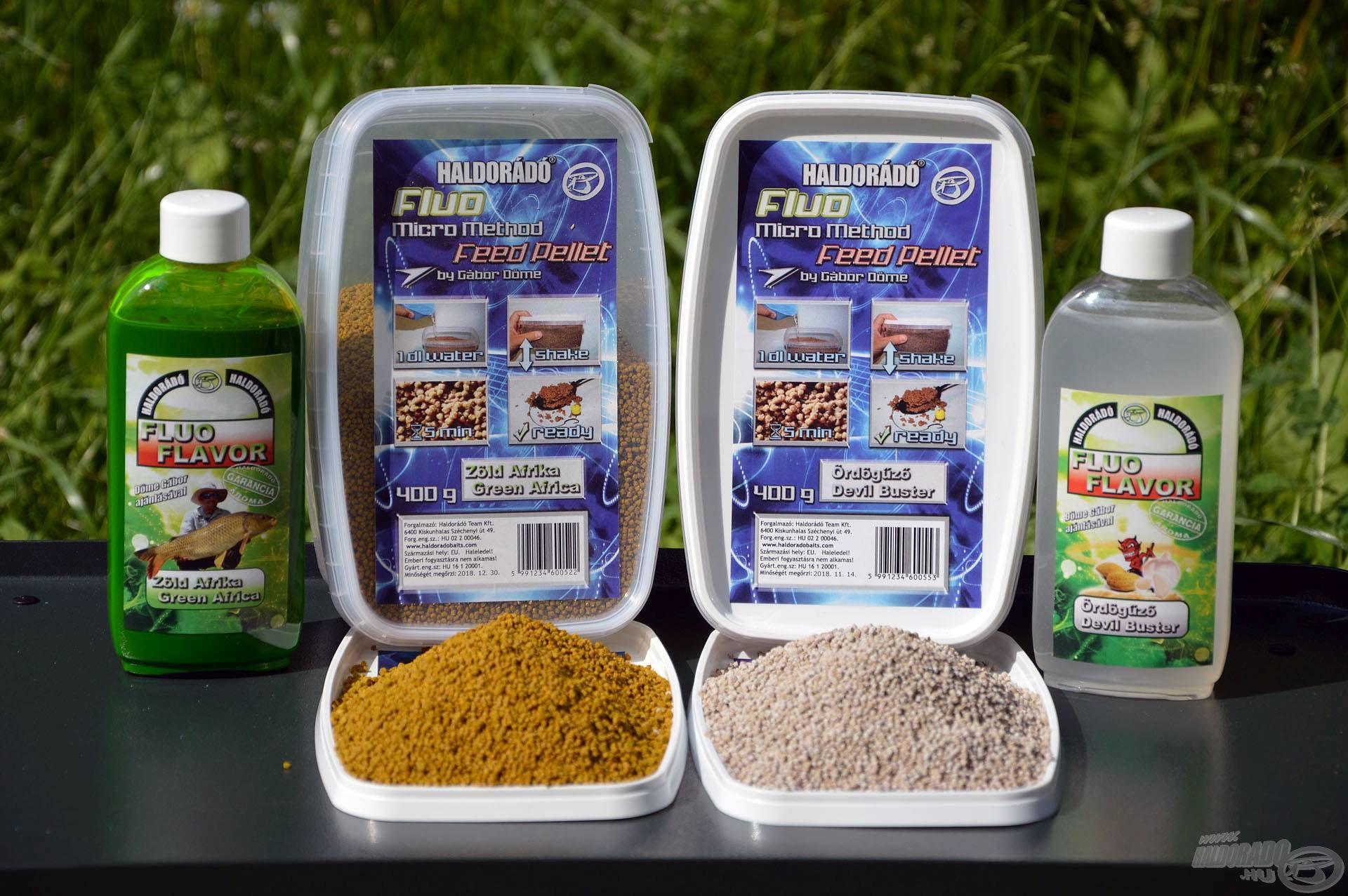 A Fluo Micro Method Feed Pelletek tartalmas, fogós és szelektív etetőanyagok, amelyek hosszabb várakozási idő mellett is aktívak maradnak