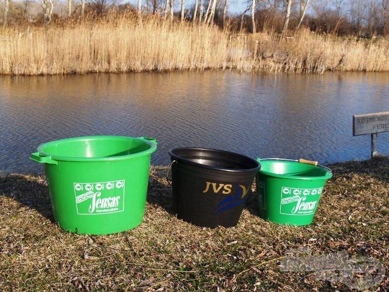 40 literes dézsa, 25 literes vödör, 17 literes vödör - horgászok számára