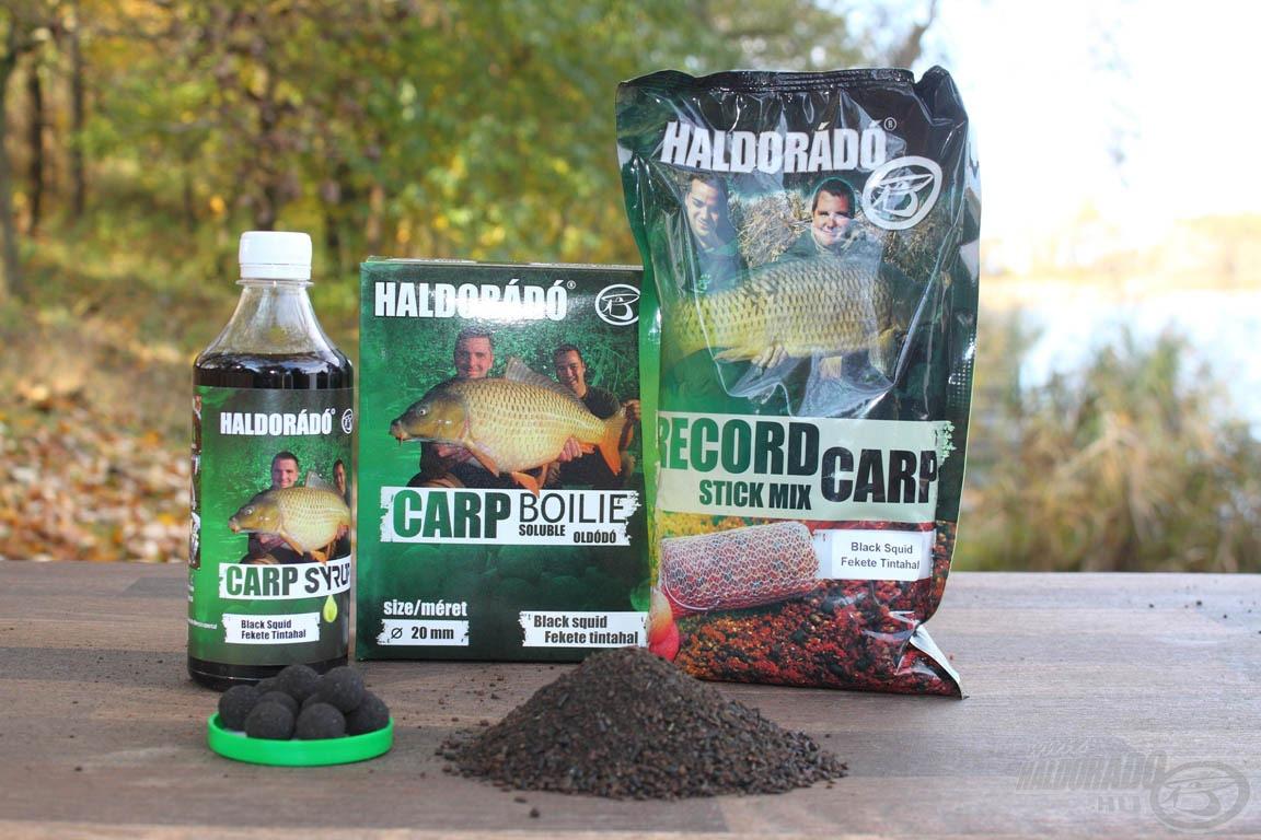 A Fekete Tintahal többféle roppantott pelletet is tartalmazó…
