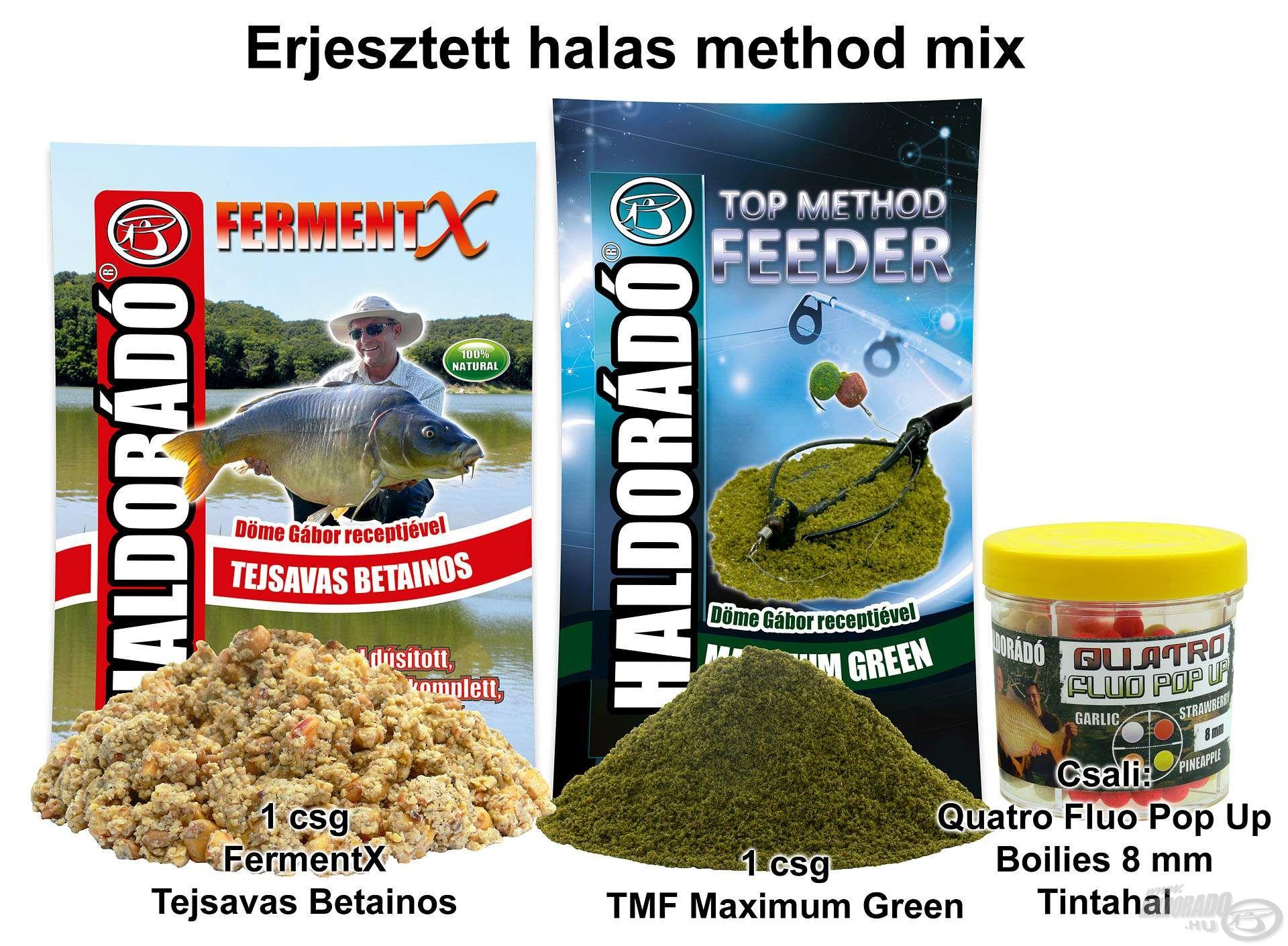 Erjesztett halas method mix
