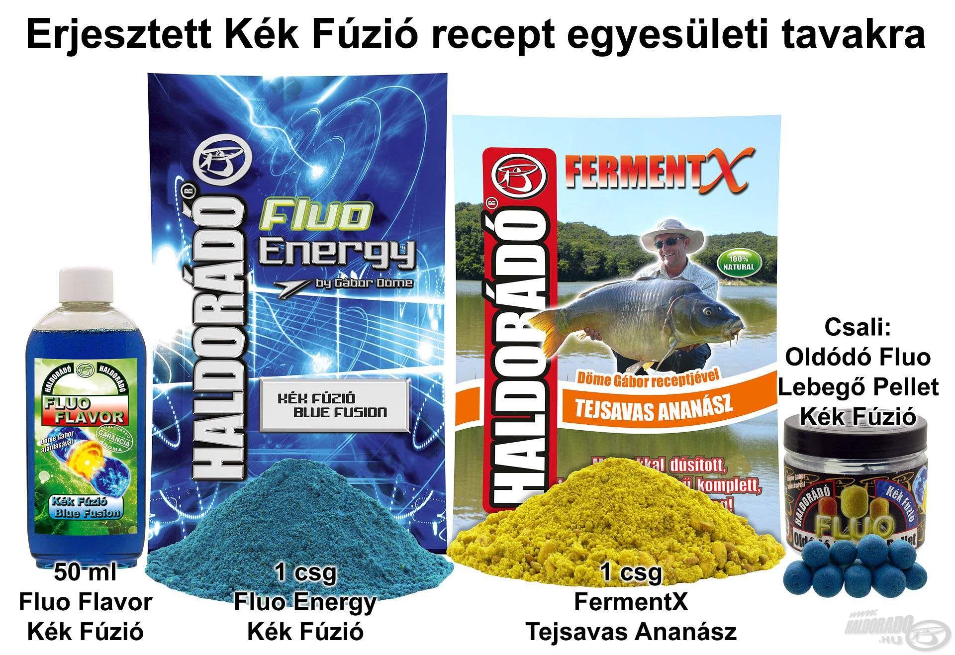Erjesztett Kék Fúzió recept egyesületi tavakra