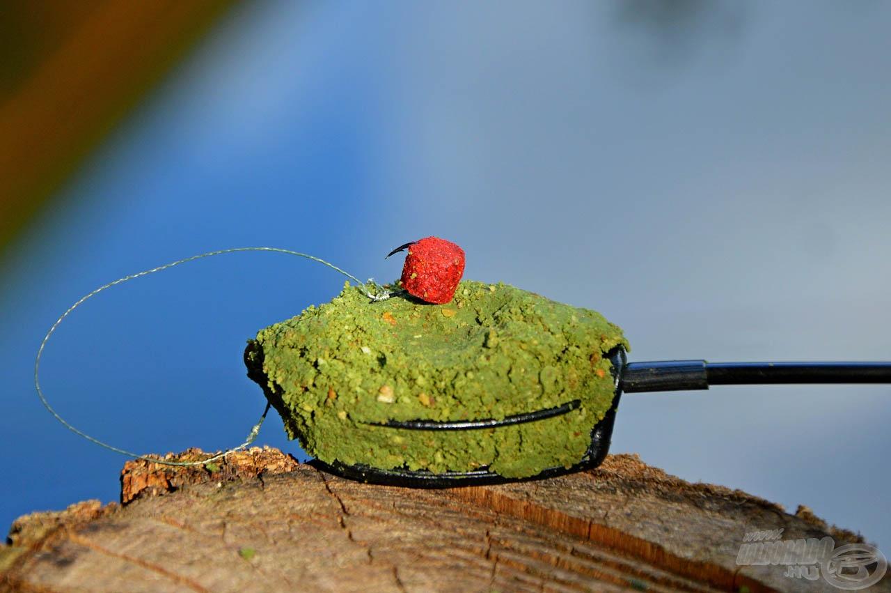 Kerek öblű, nehéz horog, ami akár a lebegő soft pelleteket is lent tartja a fenéken, lehetővé téve azok kikönnyített felkínálását