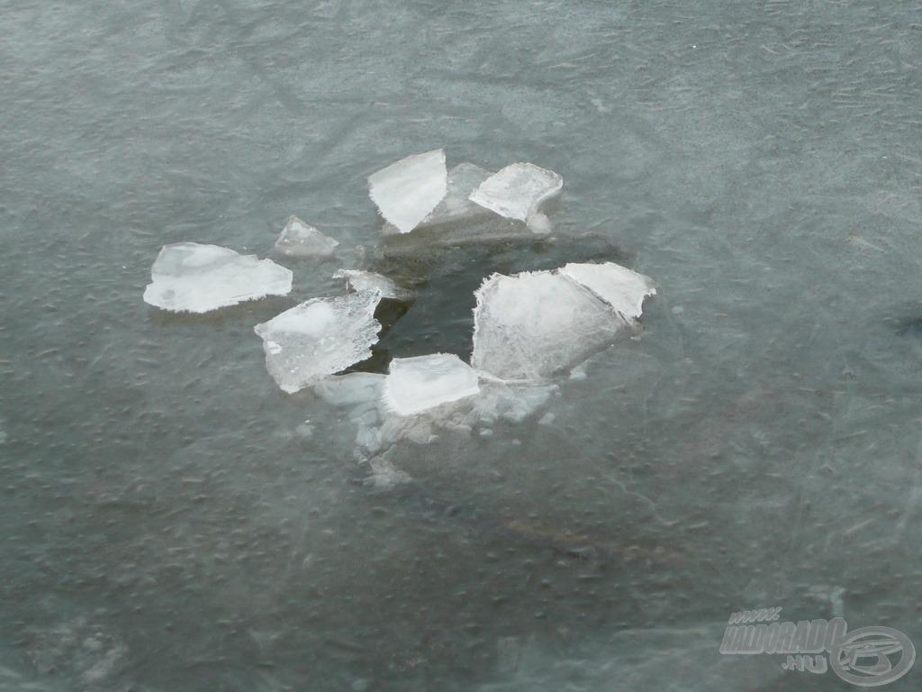 A hirtelen jött enyhülés megrogyaszthatja a jeget, amely vastagsága ellenére így már nem stabil - szintén életveszélyes!