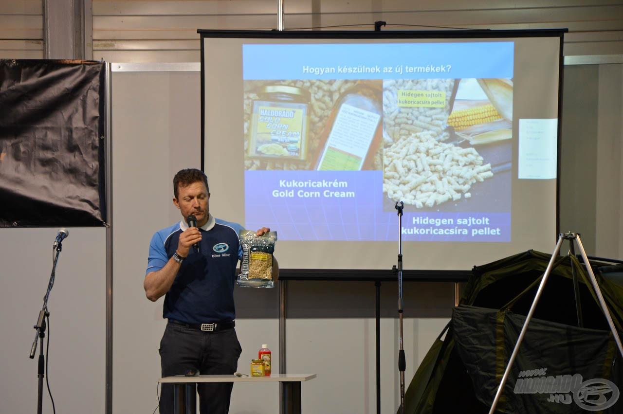 """Döme Gábor szombaton tartotta meg a """"Kukoricás praktikák a modern pontyhorgászatban"""" című előadását, melyet sokan kísértek figyelemmel"""