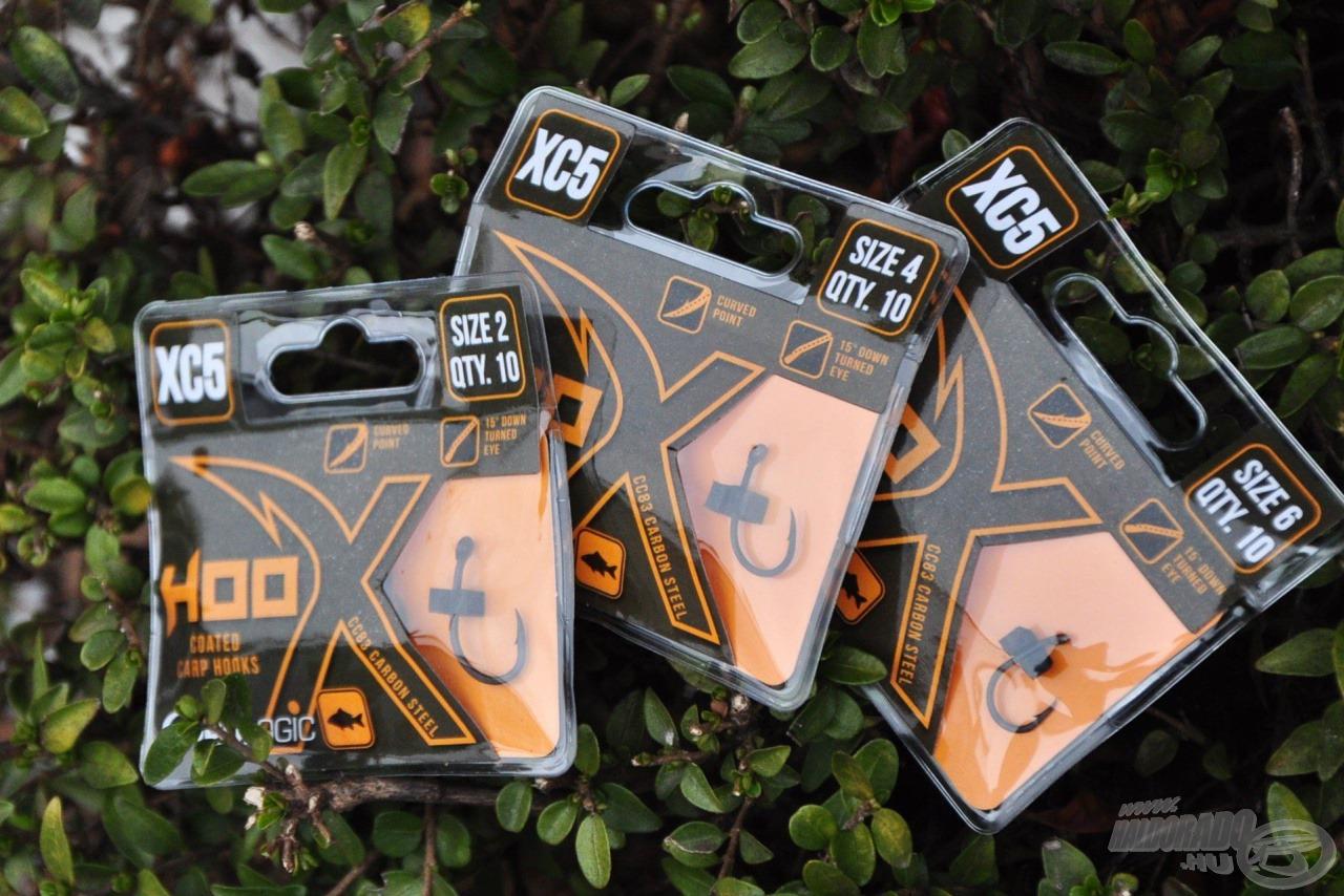 Nagyon erős és rendkívül jó akadást biztosító horgok az XC5 széria darabjai
