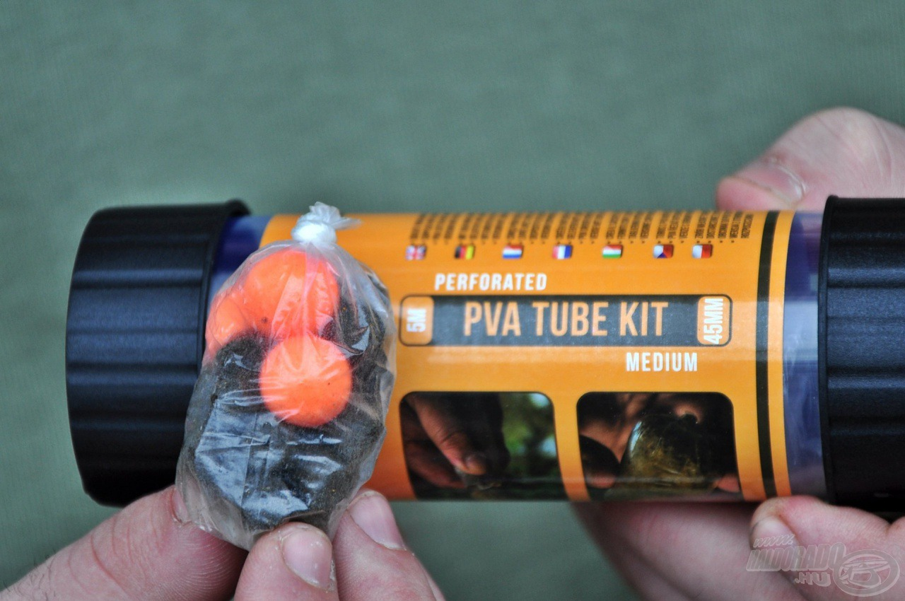 A perforált PVA zacskók 5 méteres kiszerelésben és 30, valamint 45 mm szélességben is elérhetőek. Ha kifogyna, utántöltő készlettel újratölthető