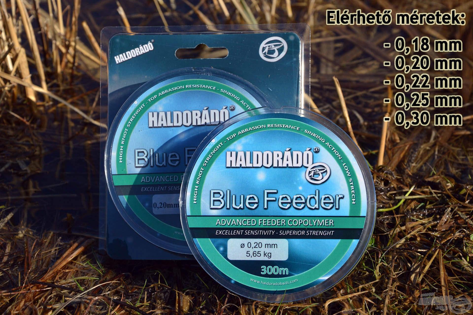 A Blue Feeder zsinórcsalád 5 népszerű méretben kerül forgalomba