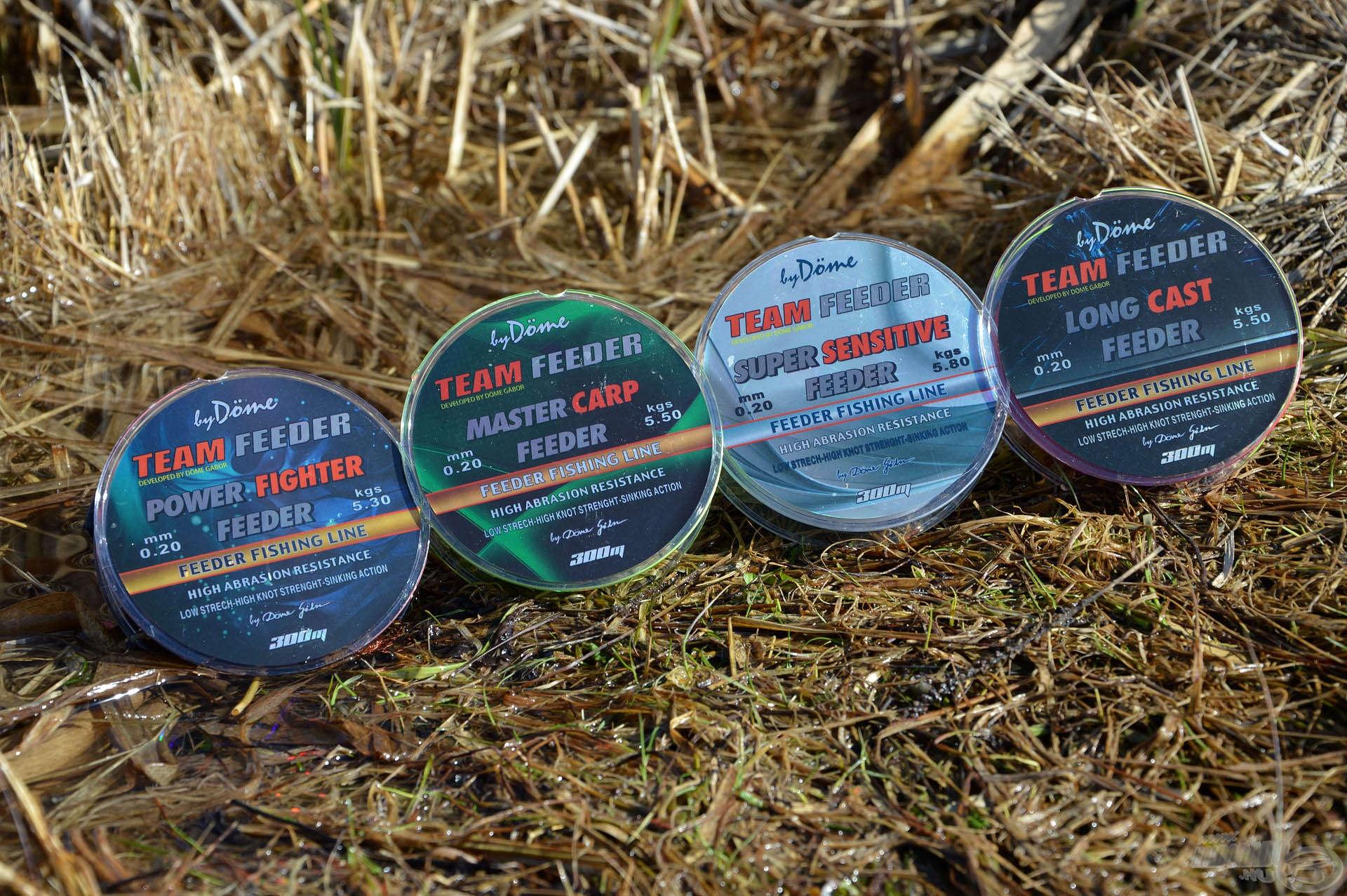A By Döme TEAM FEEDER zsinórok professzionális megoldást kínálnak bármely feederhorgásznak