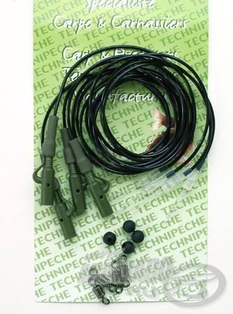 A Technipeche szettben kínál olyan, különösen finom gubancgátló csővel ellátott verziót is, amelyben az áttetsző, vízben szinte láthatatlan ütköző is alaptartozék (50 cm csőhossz, 1,5 mm-es külső és 1 mm-es belső csőátmérő, fekete szín, 3+1 db / csomag). A (szintén a csomaghoz tartozó) gumigyöngyökkel könnyen összeállítható a felső ütközős, tehát csak előre meghatározott hosszúságú szakaszon csúszó szerelék